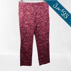 3/$25💦SIGRID OLSEN 8 CAPRI PANTS GEO PRINT PINK
